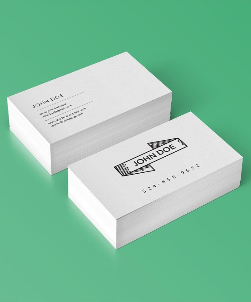 100 recycled business cards we print canada standard business cards reheart Gallery